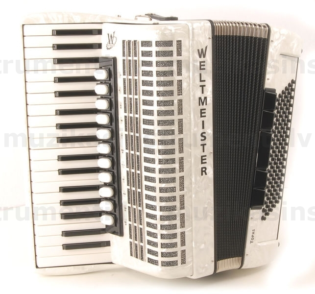 Weltmeister Topas Musette 37/96/IV White - Accordions - We offer wide range  of music instruments, maintenance and repairment works  |