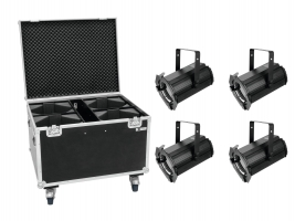 EUROLITE Set 4x LED THA-100F Theater-Spot+Case
