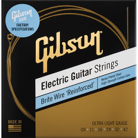 Gibson Brite Wire 'Reinforced' Electric Guitar Strings 09-042