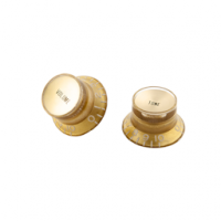 Gibson Top Hat Knobs with Inserts-4 pack Gold W/Gold Metal Insert