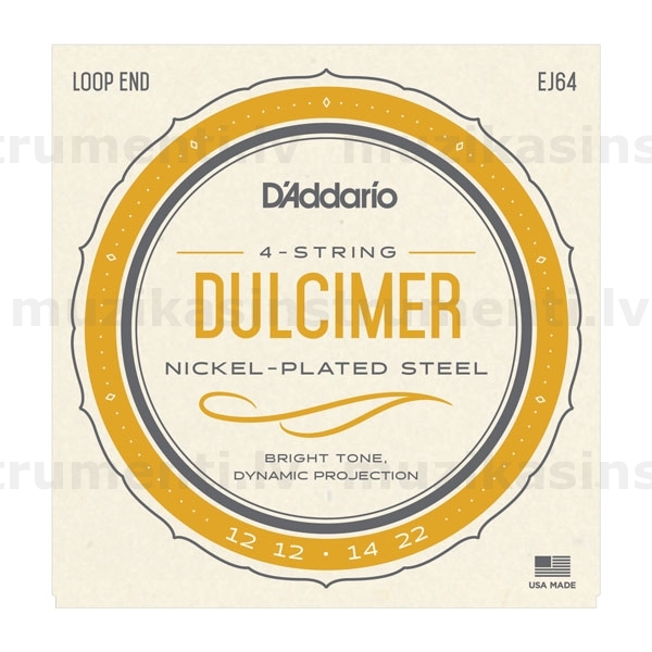 Daddario EJ64 4-String Dulcimer Strings