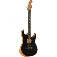 Elektriskā ģitāra Fender Acoustasonic Strat Acoustic/Electric Guitar In Black