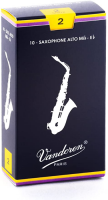 Vandoren SR212 Alto Sax Traditional Reeds Strength 2; Box of 10