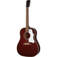 Akustiskā ģitāra Gibson 60s J-45 Original Adj Saddle Wine Red
