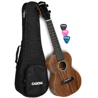 CASCHA All Solid Acacia Concert Ukulele