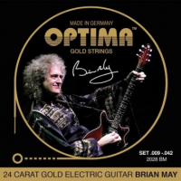 Elektriskās ģitāras stīgas Optima 24K Gold Plated 2028 BM Brian May Electric Guitar Strings 9-42