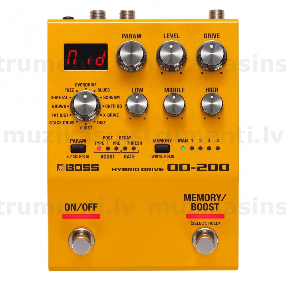 Boss OD-200 Hybrid Drive Overdrive and Distortion pedālis
